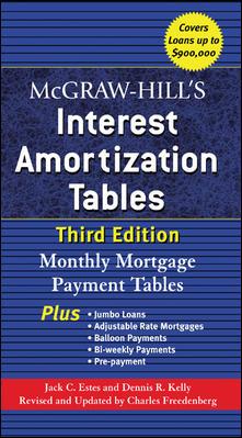 Mcgraw-hill's Interest Amortization Tables By Estes, Jack C./ Kelley, Dennis R./ Freedenberg, Charles